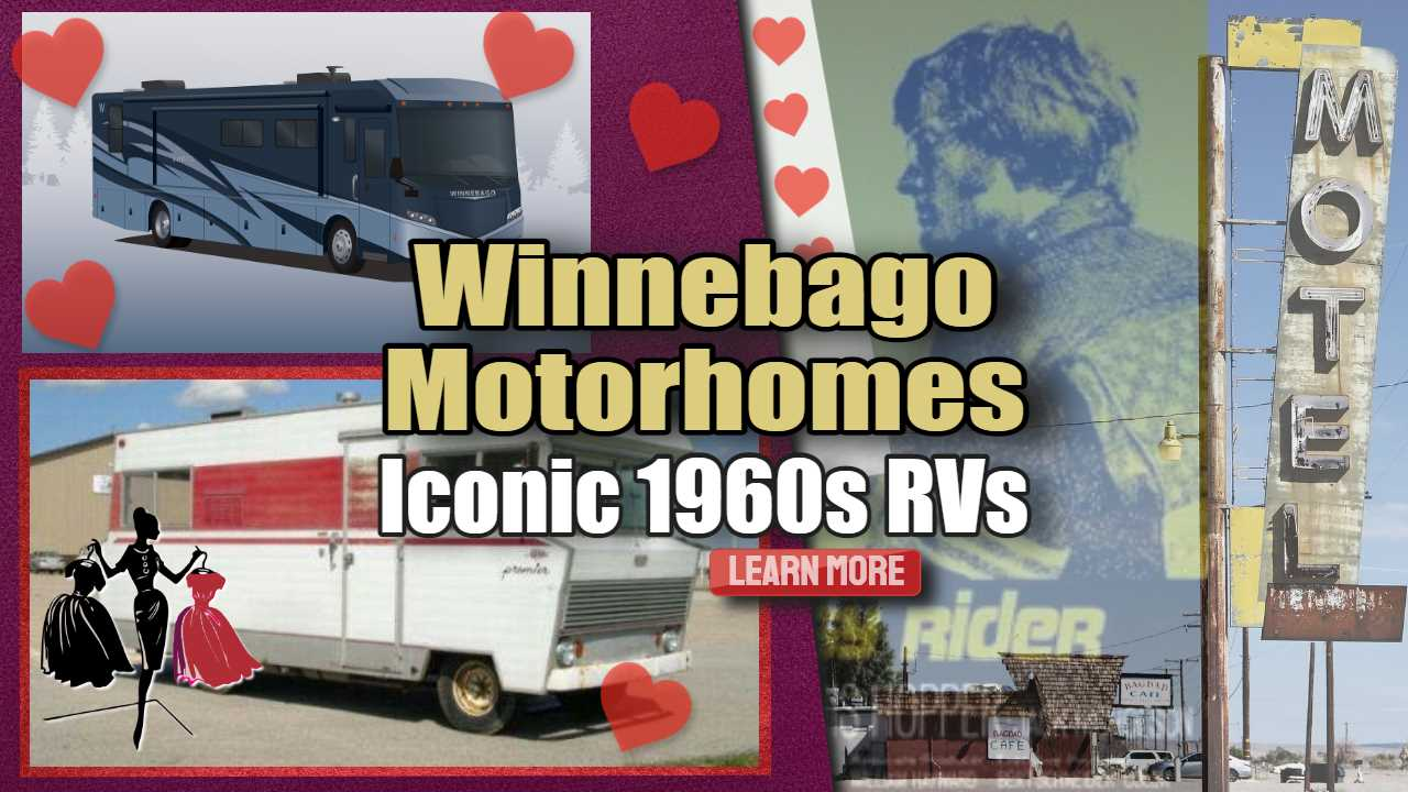 "Featured image text: ""Winnebago Motorhomes Iconic 1960s RVs""."