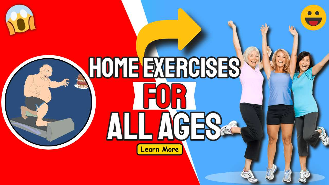 """Featured image text: """"Home Exercises for all ages""""."""